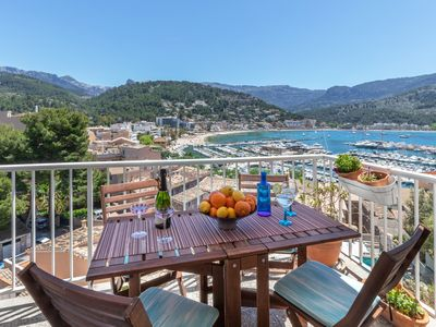 """Photo for """"Neptuno 2"""", great apartment with beautiful views over the Port de Soller."""