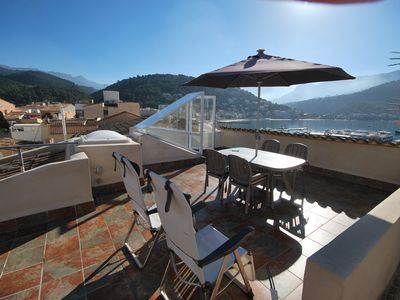 Photo for Modern apartment with two terraces in the port of Port de Sóller