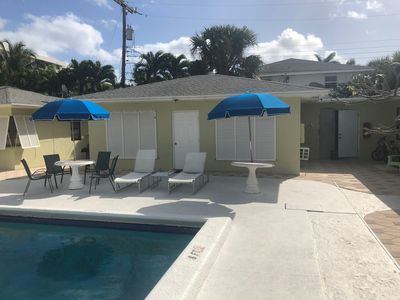 Photo for Standalone 1/1 Apartment Across From Beach and Next to Pool