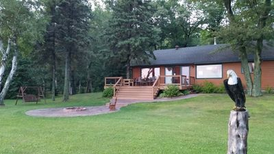 Photo for Gorgeous 4 bedroom Lake Home in Northwest Wisconsin on Lac Courte Oreilles!