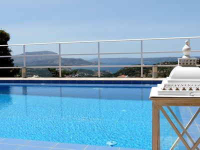 Photo for Modern villa for 1 to 6 people, private pool, beautiful sea and mountain views