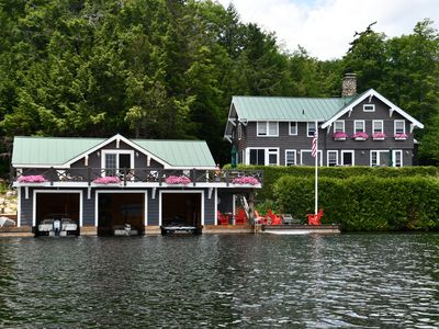 Photo for Beautiful waterfront retreat on the peaceful west shore of Lake Placid!