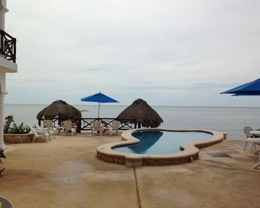 View of pool and ocean from Unit #3