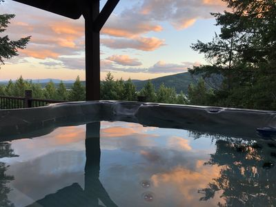 Photo for NEW LISTING! 5BD 5BA Whitefish Home w/ Lake Views! 2 Kitchens & Private hot tub!
