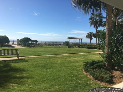 Photo for Ground floor unit with beautiful view of the gulf!