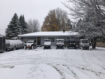 Front of house on snowy fall day!
