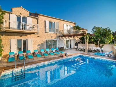 Photo for Large Traditional Stone Villa, Private Pool, Panoramic Sea Views on the Beach Front of Mirca !