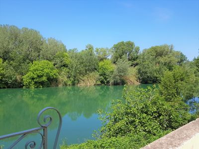 Photo for House facing the river near the Pont du Gard, Uzes, Nimes, Avignon, Arles ..