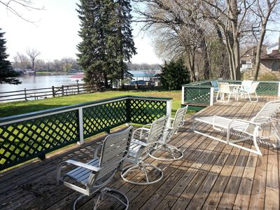 Photo for Fox River Resort Home--View, Location, 100 ft. River Frontage, Best Rates