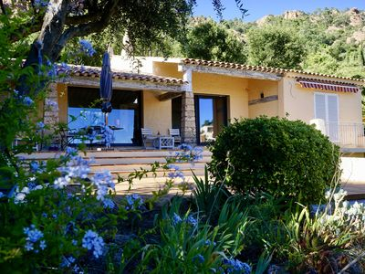 Photo for BEAUTIFUL VILLA SEA VIEW, QUALITY DECORATION, swimming pool, 450m from the beach of Agay