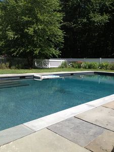 saltwater pool with spa