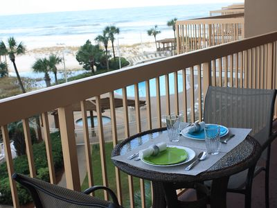 Photo for Beautifully Decorated Vacation Getaway #417 Direct Beachfront, Sleeps 6,