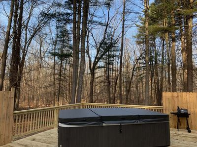 Photo for Poconos Largest Hot Tub, Real Sauna & Movie Theater