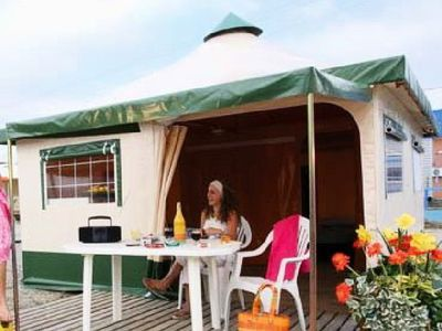 Photo for Camping L'Etang des Forges *** - Canvas Bungalow Cyrus 3 Rooms 5 Persons