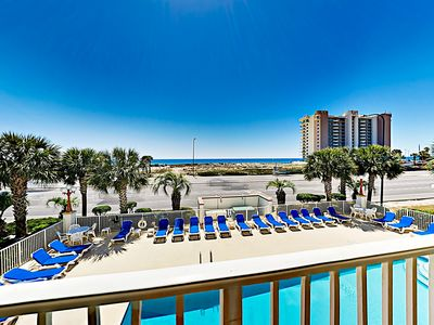 Photo for Breezy Gulf-View Condo Across from Beach w/ Boat Launch & Pool