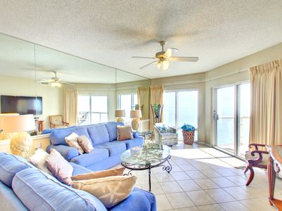 Photo for Picture perfect Gulf View! Two swimming pools, hot tub and fitness center.