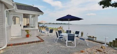 Photo for Spectacular Water Views From Charming Bay Front Cottage