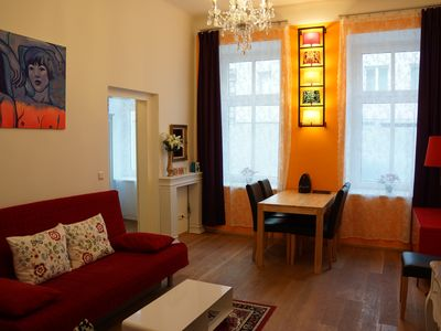 Photo for Stylishly furnished 2 room apartment for up to 7 persons; short walk from center