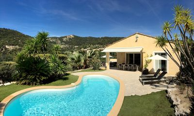Photo for CHARMING VILLA, GULF St TROPEZ, QUIET, BEAUTIFUL VIEW, HEATED SWIMMING POOL