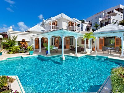 Photo for Caribbean villa with private pool amidst tropical garden
