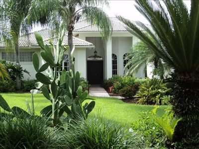 Front Entrance - tropical Landscaping!