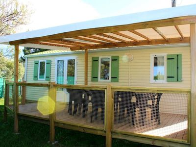 Photo for Camping Domaine de la Palme *** - Air-conditioned 4-room mobile home 6/8 people