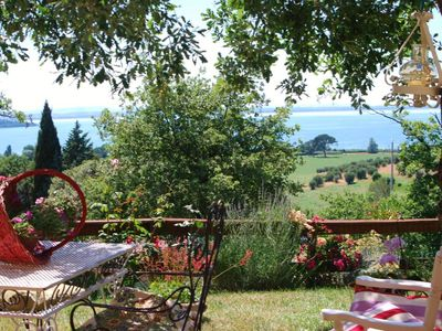 "Photo for On the lake Trasimeno seashore ""Dimora di Agilla -sunsets on the lake-"" Villa with garden"