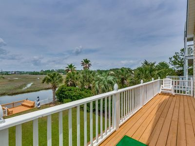 Adorable Raised Channel House with Private Dock on Marsh - Less Than a 5 Minute Walk to the Beach!