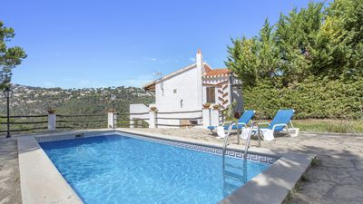 Photo for Ibizan style house with private pool, only 2 5Km from the beach.