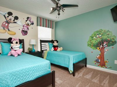 Photo for Princess themed bedroom*4 Mile Disney*Wifi throughout*Private pool and spa*Views