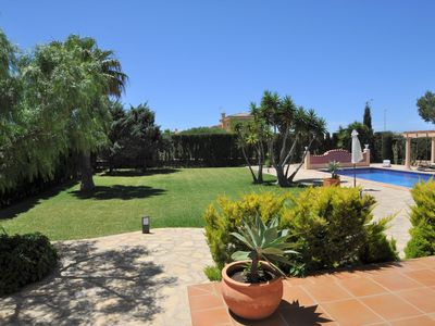 Photo for VILLA CALA. Villa in Sa Torre by the sea and near golf for 8 people- 4 bedrooms., Sat TV. Private Swimming Pool. - 68814- - Free Wifi