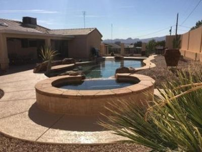 Photo for Beautiful Lake Havasu Home with Beach Entry Pool/Swim ~Up~ Bar