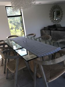 Dinning table seating 8 adults