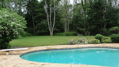 Pool back yard from deck