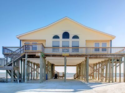 Photo for Gulf-front home features incredible views w/beach access!