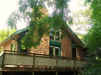 Photo for Riverside Chalet; Near Bike Trail, Hiking, Rafting, Fallingwater and mountains