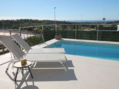 Photo for This 2-bedroom villa for up to 4 guests is located in Benidorm and has a private swimming pool, air-