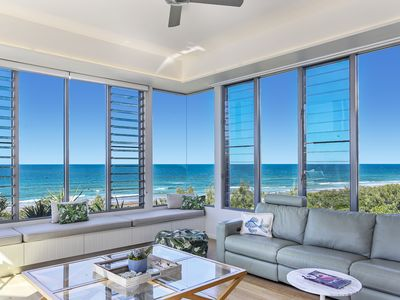 Photo for Absolutely luxurious getaway directly opposite the beach.  Family & Pet Friendly