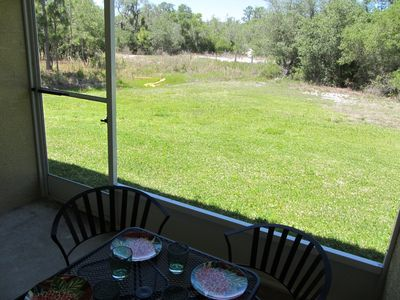 Porch View onto green space