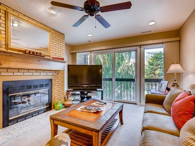 Photo for Dog-friendly condo near Park City Mountain lifts w/ fireplace & shared hot tub!