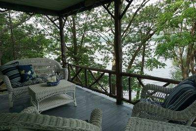 Porch over looking Lake