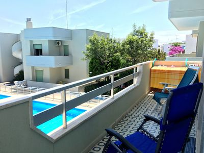 """Photo for Modern Apartment """"Aldo e Antoinette"""" Close to the Beach With Ocean View, Pool, Balcony, & Terrace; Parking Available"""