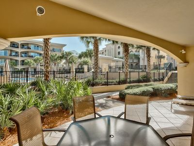Photo for Adagio G104 pool front three bedroom plus bunk room, week of May 18th open!