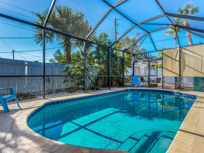 Photo for Funky dog-friendly home w/private pool, and hot tub - super sunsets nightly!