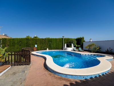 Photo for Holiday Home Cortijo Entrepinares with Pool, Wi-Fi, Garden & Terrace; Parking Available