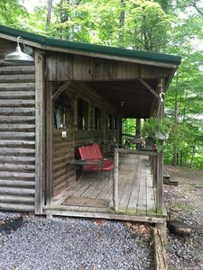 Photo for Cabin with lake views and beach access!