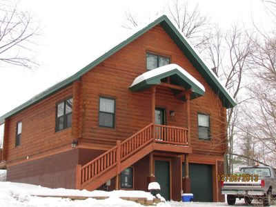 Photo for Quiet Getaway Retreat Log Home near Mille Lacs Lake on Northwoods Golf Course