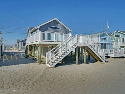 Photo for Ocean Front Beach House with View. 3BR, 2Bath, sleeps 8, A/C, WiFi, 8 badges