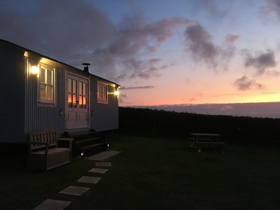 Photo for Cornakey Farm Luxury Shepherds Hut and Hot Tub