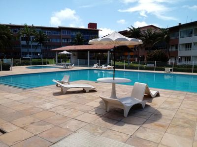 Photo for Ap beautiful beach front w / beautiful pool and barbecue (Cartier)
